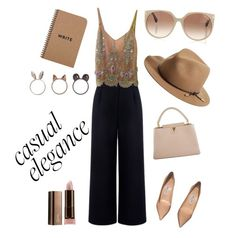"""""""Casual elegance"""" by andreea-pug ❤ liked on Polyvore featuring Être Cécile, Cynthia Rose, Jimmy Choo, Louis Vuitton, rag & bone, Tom Ford and COVERGIRL"""