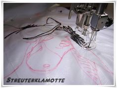 Streuterklamotte: Malen mit der Nähmaschine Teil 4 oder Sticken ohne Stickmaschine