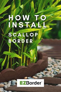 In this video, learn how to install the Scallop Border from the EZBorder collection of recycled rubber garden edges! Garden Edging, Garden Borders, Recycled Rubber, Eco Friendly, Recycling, Landscape, Learning, Plants, How To Make