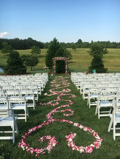 Pedals design down the aisle. Southern wedding  Pedal runners  Aisle runners