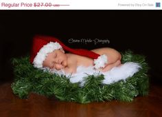 SALE Baby Santa Hat Christmas Photo Prop Cyber by inamood, $22.95