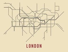 A subway map where the lines are the station names. Graphic art, but with a purpose. A great reminder of a trip or a way to dream of a trip to come.