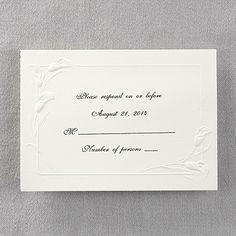 Elegant Calla Lilies - Respond Card and Envelope weddingneeds.carlsoncraft.com