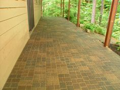 How To Upgrade A Concrete Patio Transforming A Plain Concrete Pad Into A  Beautiful Cobblestone Patio · Pavers Over ...