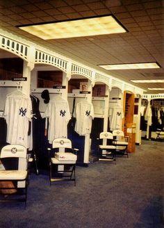 old yankee stadium locker room! Love the architectural details,