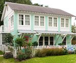 Curb Appeal... I love the 1940s pastel color Florida cottages still found scattered around but that remind me of Sanibel and Key West.  These are my colors!
