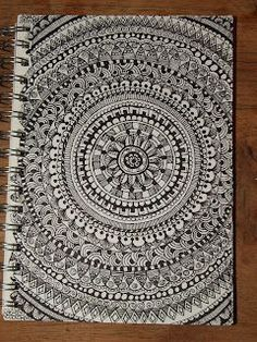 Zentangles/doodles - something to do with those blank notebook covers: