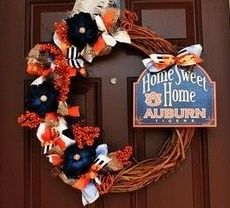 Something with Auburn spirit to decorate our door!
