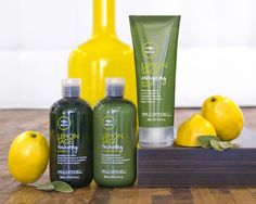Paul Mitchell Lemon Sage  Let sunny citrus be your morning wake-up call.   Lemon Sage thickens hair and refreshes with natural extracts of lemon, sage, peppermint and tea tree.