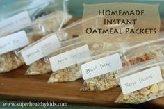 Quick and easy breakfast- plus healthier than commercial, and much cheaper! Homemade Instant Oatmeal Packets | Healthy Ideas for Kids