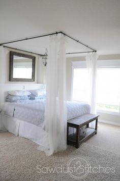 Modern Bedroom Design Idea Bed Curtains