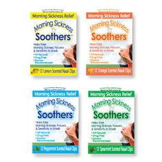 Morning Sickness Soothers - Aromatherapy Nasal Clips for Nausea Relief