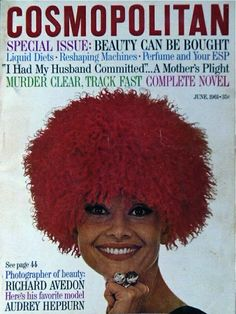 Cosmopolitan magazine, JUNE 1961 Audrey Hepburn on cover Photographer: Richard Avedon