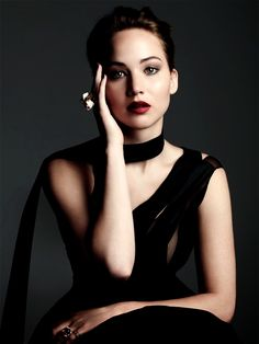 """Jennifer Lawrence (wearing Dior) in """"Playing the Game"""" by Ben Hassett for Harper's Bazaar UK November 2013"""