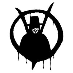 V For Vendetta Anonymous Mask Vinyl Decal Sticker #Oracal