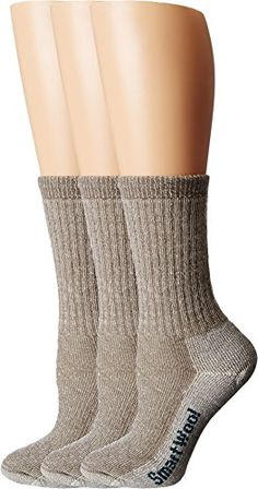 Smartwool Womens Hike Medium Crew 3Pack Taupe Socks MD Womens Shoe 795 *** For more information, visit image link.