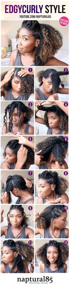 52. Edgy #Two-strand Twisted #Crown - 67 Crushworthy #Natural Hair Ideas from #Pinterest ... → Hair #Pageboy