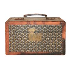 Rare Early Maison E. Goyard Small Carry On Toiletry Trunk