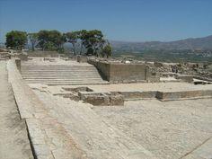 Palazzo di Festo, cortile degli spettacoli - seconda metà del XV secolo a.C. ca