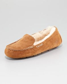 Ansley Shearling Moccasin Slipper - Neiman Marcus