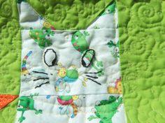 Easy scrap cat quilt