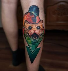 Cat tattoo by Artemijs Saveljevs