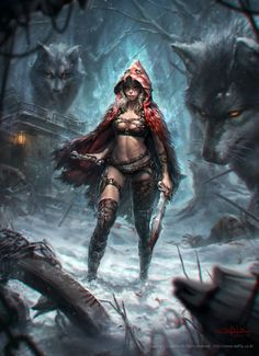 Little Red Riding Hood is a unique and cool visualization by Korea based concept…