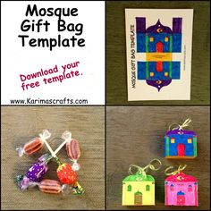 What a cute gift bag idea! Great for the Eids, Sunday school, or masjid activity.
