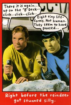 Star Trek Christmas card from the 1990's.