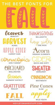 The Best Cheap and Free Fonts for Fall