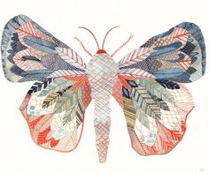 Moth print by United Thread
