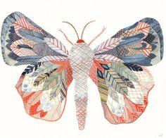 Exotic Moth- Original painting