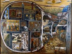 "The original artwork from which VH's ""Fair Warning"" album cover is derived. (""The Maze"" by William Kurelek) Vincent Van Gogh, William Kurelek, Bethlem Royal Hospital, Schizophrenia Art, Winnipeg Art Gallery, Edvard Munch, Canadian Artists, Outsider Art, Maze"