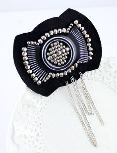 Gold Bead Chain Tassel Brooches - Sheinside.com