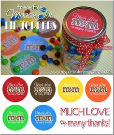 Free Mason Jar Printables - Mason Jar Crafts Love