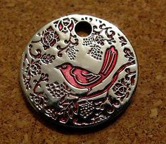 Pathtag-9770-Red-Bird-Translucent-Pathtag-Retired-Geocoin-Alternative