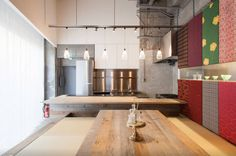 Located in the Ginza district of Tokyo, this newly-renovated apartment used to be an office building. The sleek kitchen and dining area looks like something straight of a magazine. Rate: $255/night   - HouseBeautiful.com