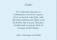 Danksagungen Kommunion, Rebstock 5 Karten, C6 Doppelklappkarte 148x105 inkl. Umschläge, Blau: Amazon.de: Küche & Haushalt