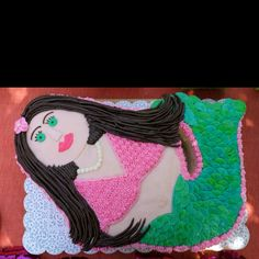 Or a mermaid cake? (But less creepy looking...)