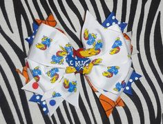 KU Hair Bow by MegansHairCandy on Etsy, $8.00