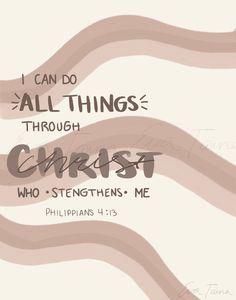 Philippians 4:13 | Christian Wall Art | Scripture Wall Art| Bible Verse Printable