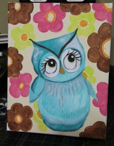 Painted owl in canvas ;)