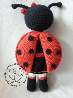 Lilly The Ladybird crochet pattern toy doll by BlueBerryWorld