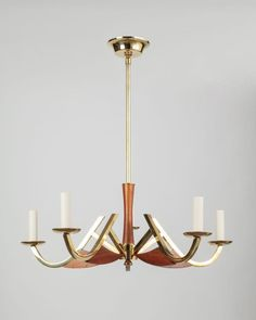 Brass and Teak Chandelier (ahl3773) | Remains.com. Please contact Avondale Design Studio for more information on any of the products we feature on Pinterest.