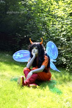 there are more pics at the photographers post here: http://nightmare-girl.tumblr.com/post/95039784285/my-sister-as-vriska-serket-taken-by-myself-dont  http://squeakadeeks.tumblr.com/ as vriska serket  photos taken by http://nightmare-girl.tumblr.com/
