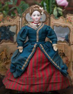 Louis Doleac & Cie — 12'' French Fashion Doll, Size 0, c.1867   (700×895)