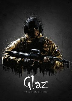 """Rainbow Six Siege Characters Glaz #Displate artwork by artist """"TraXim"""". Part of a 33-piece set featuring artwork based on characters from the popular Rainbow Six video game. £37 / $49 per poster (Regular size), £74 / $98 per poster (Large size) #RainbowSix #RainbowSixSiege #TomClancy #TomClancysRainbowSix #Rainbow6 #Rainbow6Siege #TomClancysRainbow6 #Ubisoft"""