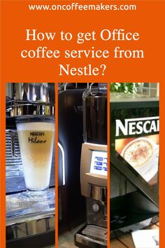 How to get Office coffee service from Nestle? Nestle is almost synonymous with office coffee service. They were among the first to offer instant coffee machines to the offices and still has one of the highest office penetration. Over the years, they have expanded their coffee brewer range with single-cup solutions such as Dolce Gusto, Nespresso. They introduced cold brew coffee and even partnered with Starbucks to increased their brew coffees options. Coffee Brewer, Espresso Coffee, Starting A Coffee Shop, Coffee Shop Business, Automatic Espresso Machine, Coffee Delivery, Coffee Service, Coffee Machines, Nescafe