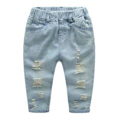 Mountainskin Boys Ripped Jeans Baby Boys Girls Kids Denim Pants Casual Children's Jeans Kids denim Trousers Aged - Kid Shop Global - Kids & Baby Shop Online - baby & kids clothing, toys for baby & kid Boys Ripped Jeans, Ripped Jeans Outfit, Girls Jeans, Denim Pants, Trousers, Baby Boy Outfits, Kids Outfits, Kids Clothes Boys, Children Clothing
