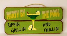 Party by the pool sippin grillin and chillin Backyard Signs, Outdoor Signs, Swimming Pool Signs, Swimming Pools, Living Pool, Pool Rules, Grillin And Chillin, Summer Signs, Pool Accessories